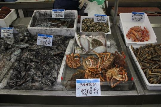 Fresh produce at Olhao fish market