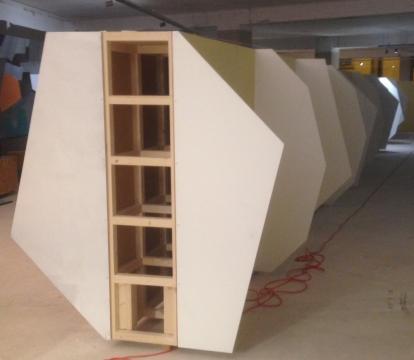 Instalação de Álvaro Leite Siza Vieira.