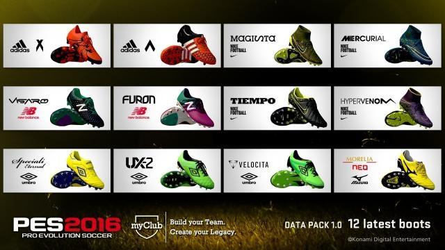 I nuovi kit e scarpe per PES 2016