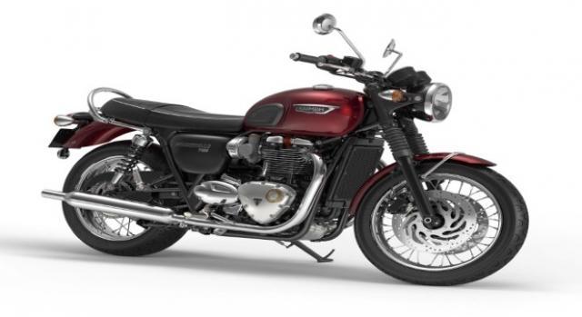 Triumph Bonneville T120 Cinder Red.