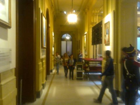 Los pasillos de la Casa Rosada
