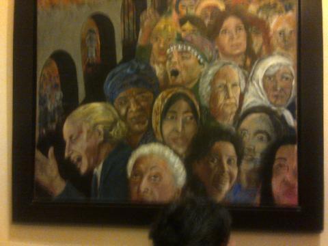 Uno de los tantos cuadros de la Casa Rosada