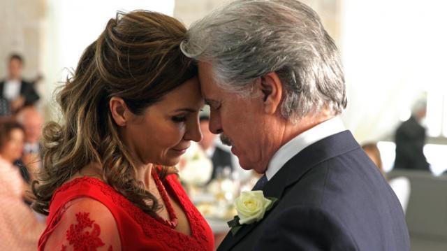 Maria Pia Calzone e Michele Placido
