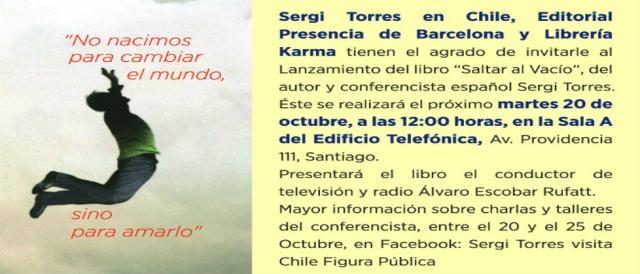 Fecha de conferencia de Sergi Torres.
