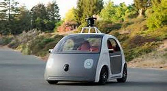 Google car going too slow for traffic.