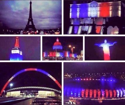 World landmarks show solitude for Paris.