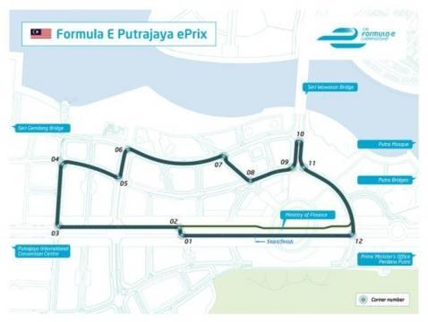 Circuito di Perdana Putra a Putrajaya, Malesia
