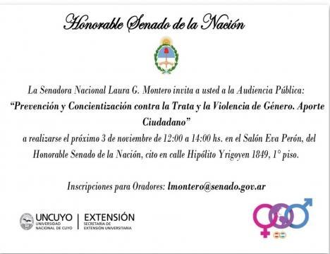 Senado de la Nacion, exposicion Johana Chacon