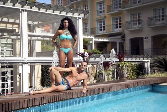 Cris Vianna e Paulo Zulu em sessão de foto