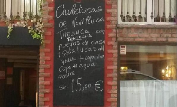Menú del restaurante Rochi de Santander