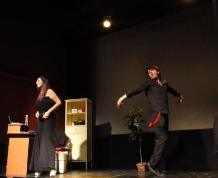 Mariana Petracca junto a Cristian El Magioso