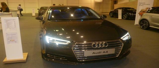 O A4 foi uma das grandes atrações da Audi