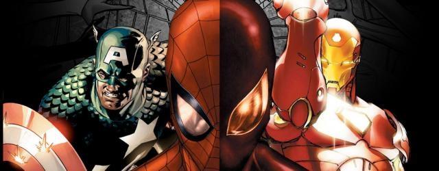 Spider-Man, Iron-Man y Capitán América juntos