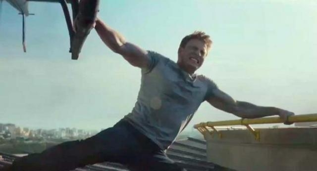 El Capitán América mostrando un poco de su poder