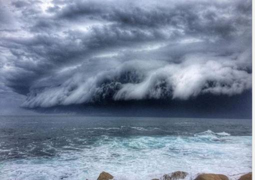 Nuvens assustadoras atraem turistas