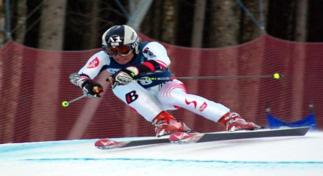 Marcel Hirscher nearly hit by drone during run.