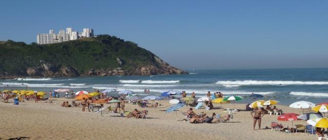 Praia do Guarujá no litoral paulista