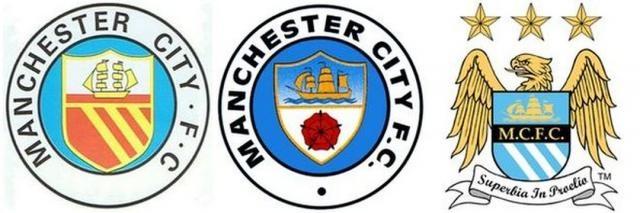 Emblemas do Man City até aos dias de hoje