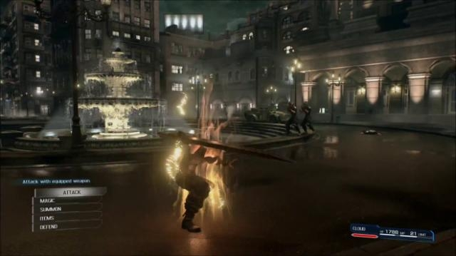 Sistema de batalha do remake de Final Fantasy VII