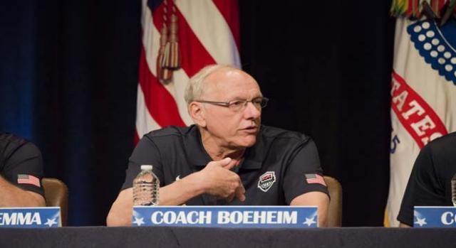 Coach Boeheim's penalty starts immediately.