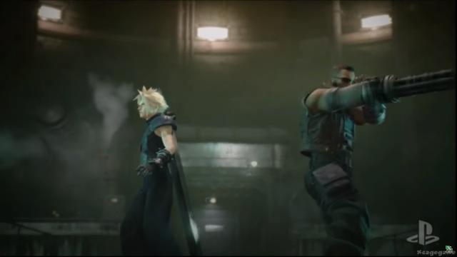 Cloud y Barret (otro protagonista del juego)