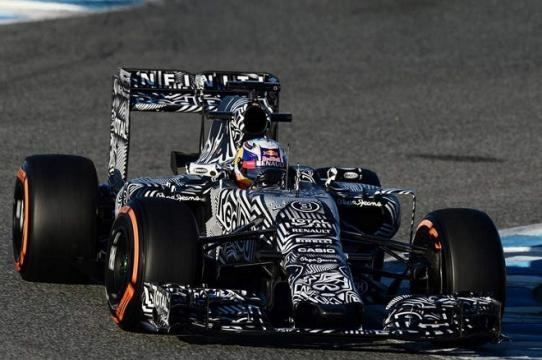 Ricciardo et sa Red Bull en mode
