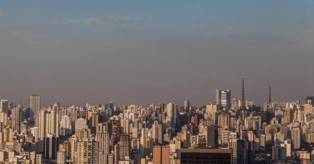 Camada de smog em São Paulo
