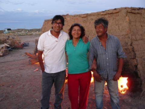 Miguel, María Luisa y Mario Abel Fleitas