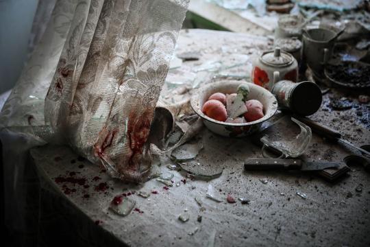 Notícias Gerais: Mesa da cozinha na Ucrânia