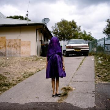 Retrato: Laurinda espera pelo autocarro