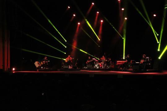 O concerto durou quase duas horas.