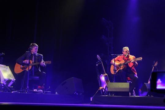 Tim e Zé Pedro estiveram em palco.