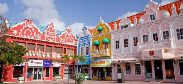 Oranjestad, la capital de Aruba