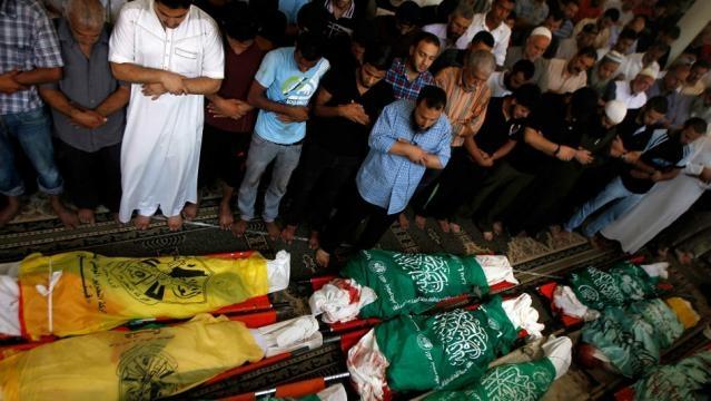Funeral de ciudadanos palestinos asesinados