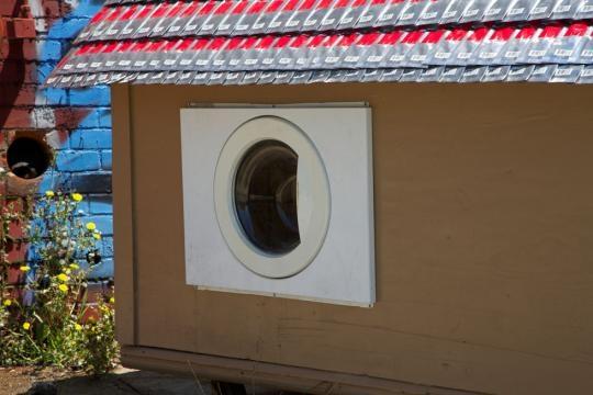 Ejemplo de casa hecha con material reciclado