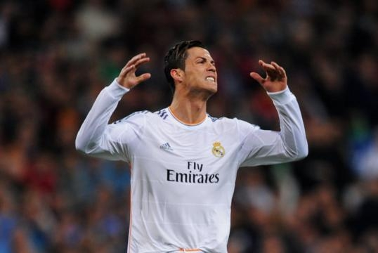 Cristiano Ronaldo en el campo de juego