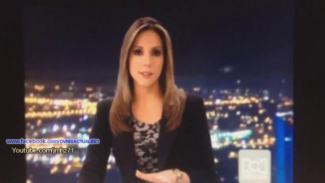 Avvistamento Ufo in diretta tv in Colombia.