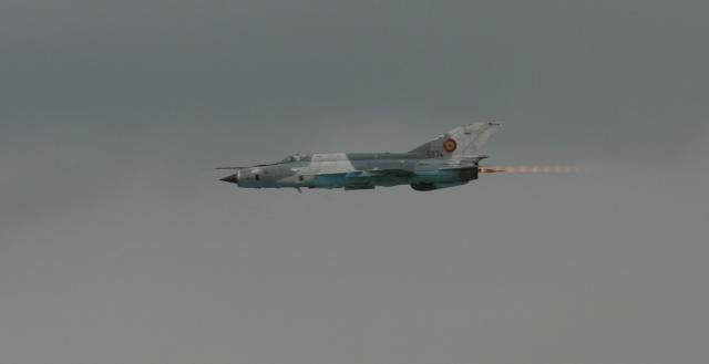 Caça MiG-21 similar aos que terão atacado Aden.