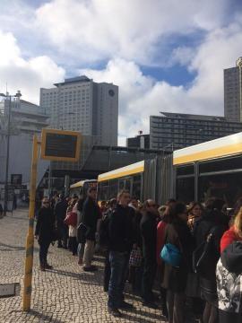 Na quarta-feira, o caos instalado em Sete Rios