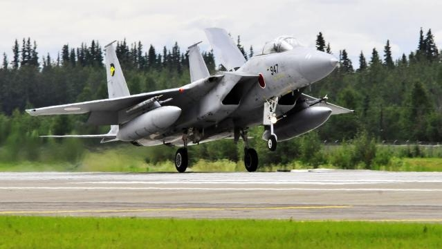 Caça F-15J da Força Aérea Japonesa.