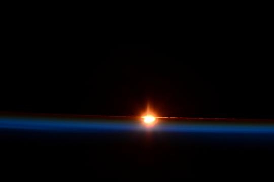 Sunrise: March 20th, 2015 eclipse over the Earth.