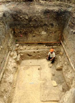 Detalle del sitio arqueológico maya de Ceibal