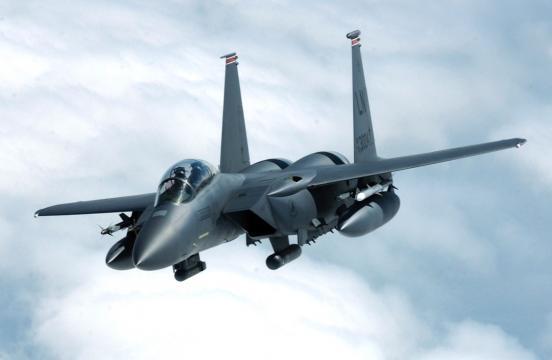 Caça F-15E similar ao perdido pelos sauditas.