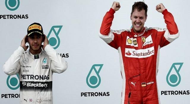 40e victoire en F1 pour Vettel, 1ere en Ferrari !