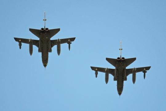Caça-bombardeiros Tornado da Arábia Saudita.