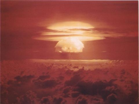 Nuclear test Castle Bravo on Bikini Atoll, 1956.
