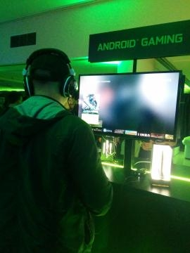 Consumers had the chance to demo Nvidia's Shield