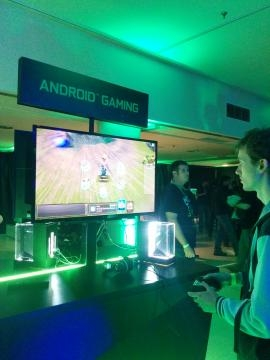 Gamers tried the new console at the presentation