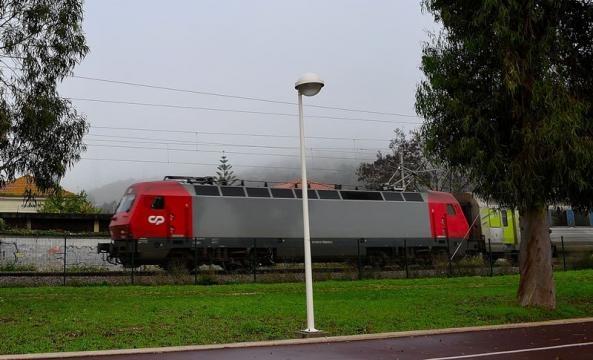 Intercidades linha do Norte com destino a Lisboa.