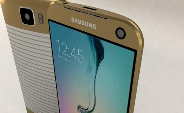 Dettaglio anteriore Galaxy S7 Concept